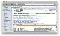 Thumbnail of BibDesk working with Google Scholar